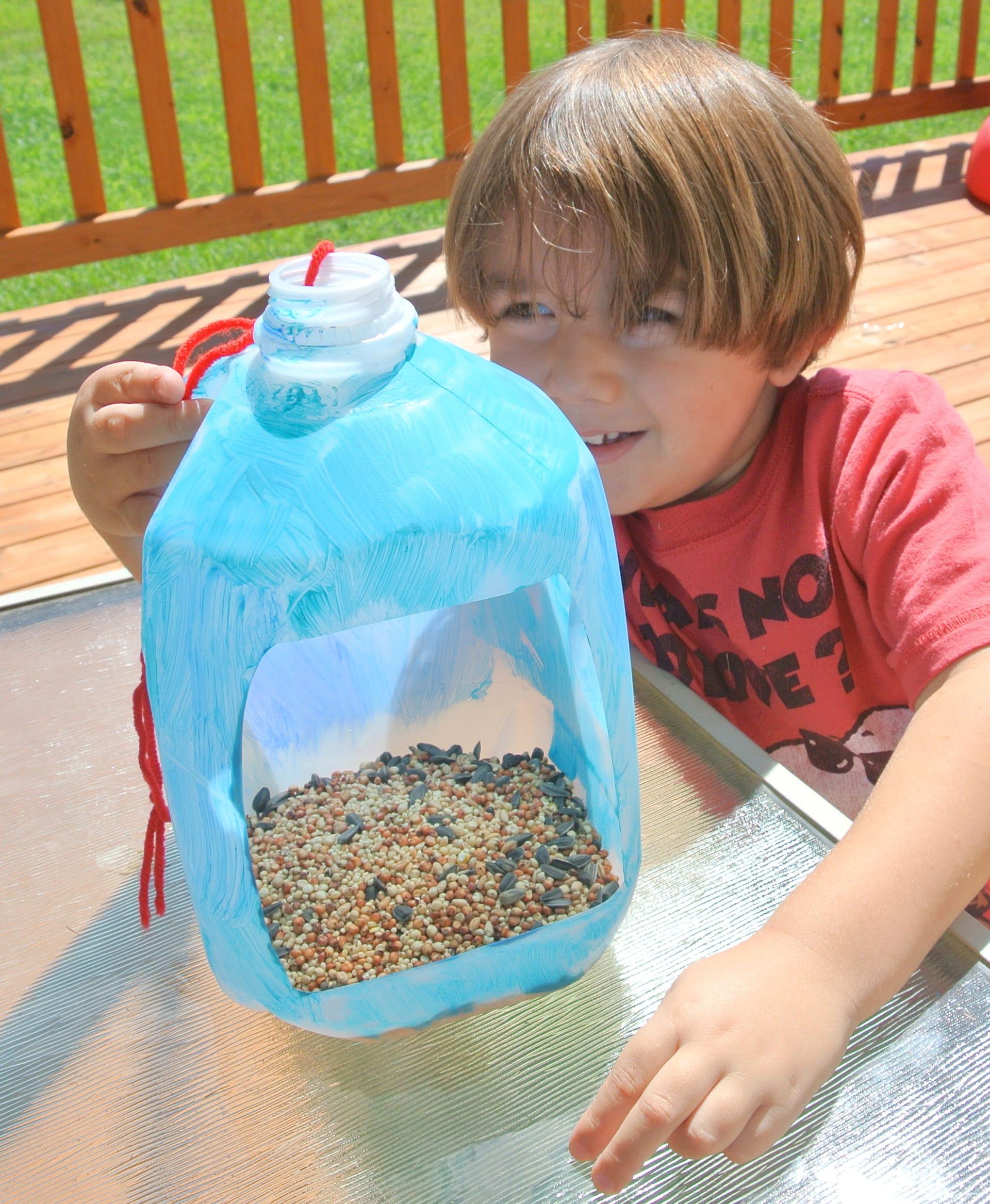 milk jug bird feeder   Milk Gallon Bird Feeder