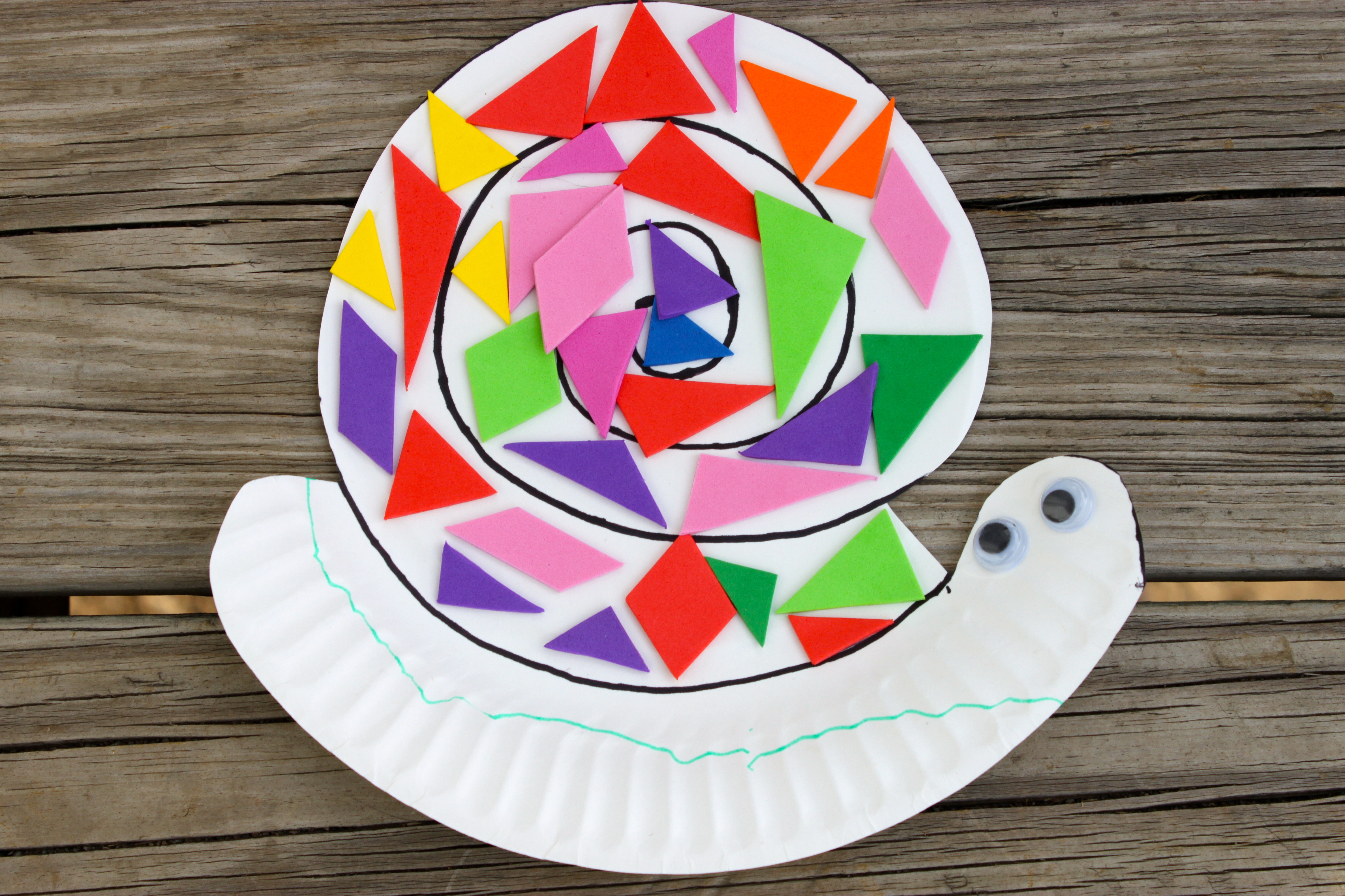 & Paper Plate Snail