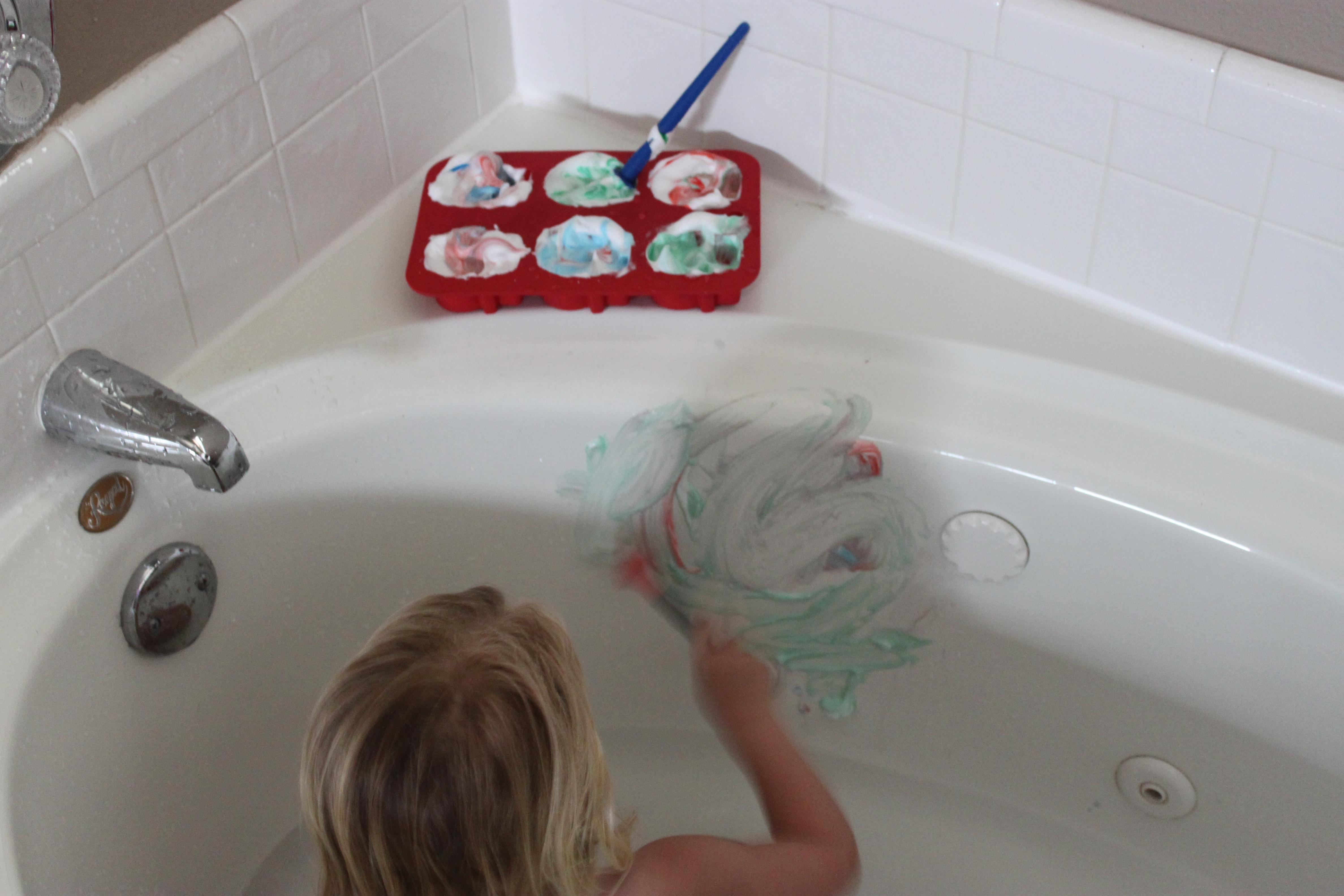 Shaving Cream Bath Tub Paint